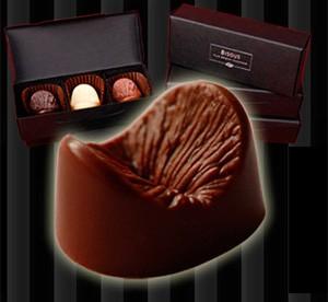 Chocolate em forma de ânus