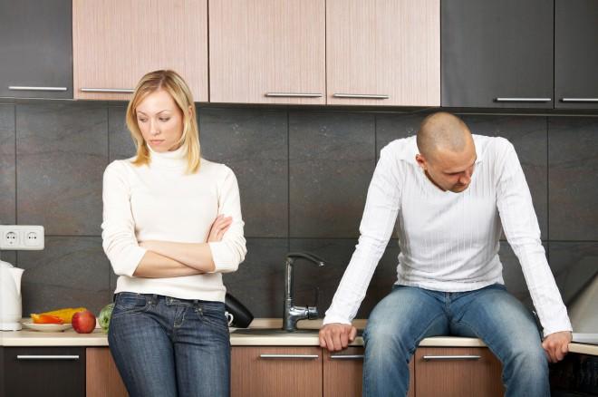 Casal em Discutindo