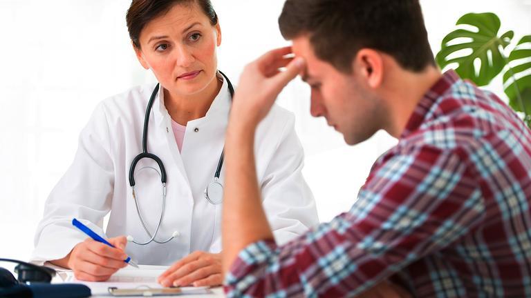 Homem Triste no Médico