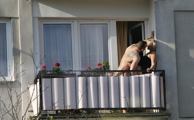 Sexo na varanda