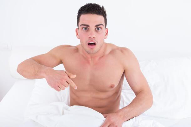 Surpreso com pênis