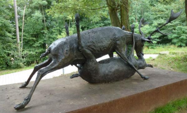 Escultura dos cervos